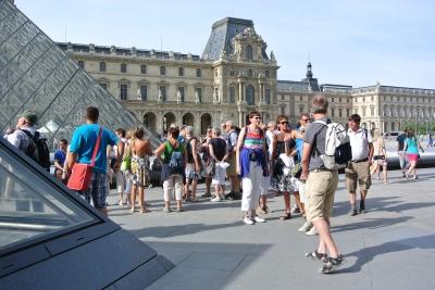 Het Louvre in de zon